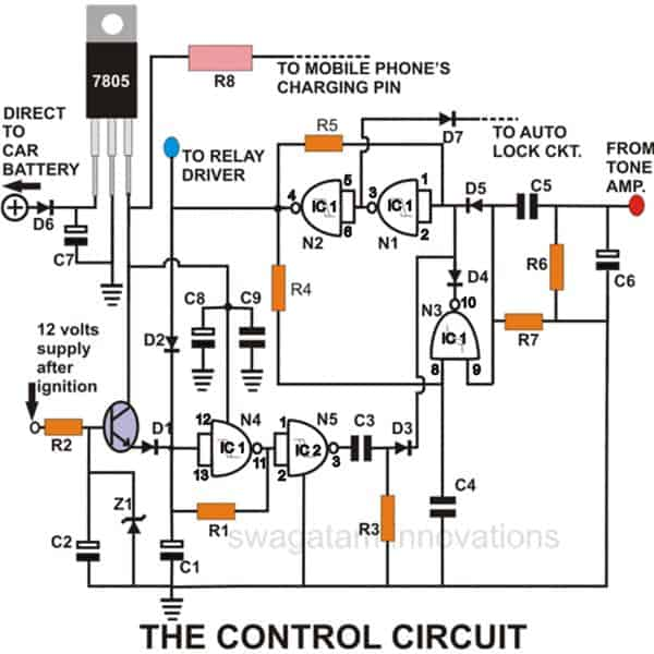 alarm wiring diagram for a homemade build a homemade gsm car security system alarm wiring diagram for 1997 mustang #4
