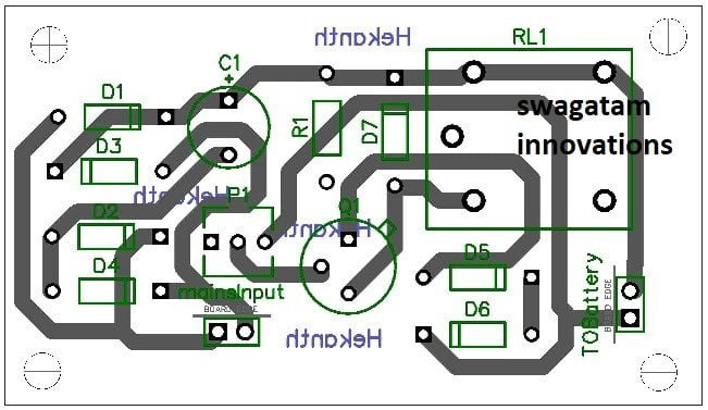 single transistor battery charger PCB layout