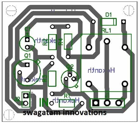 PCB design for transistor latch circuit