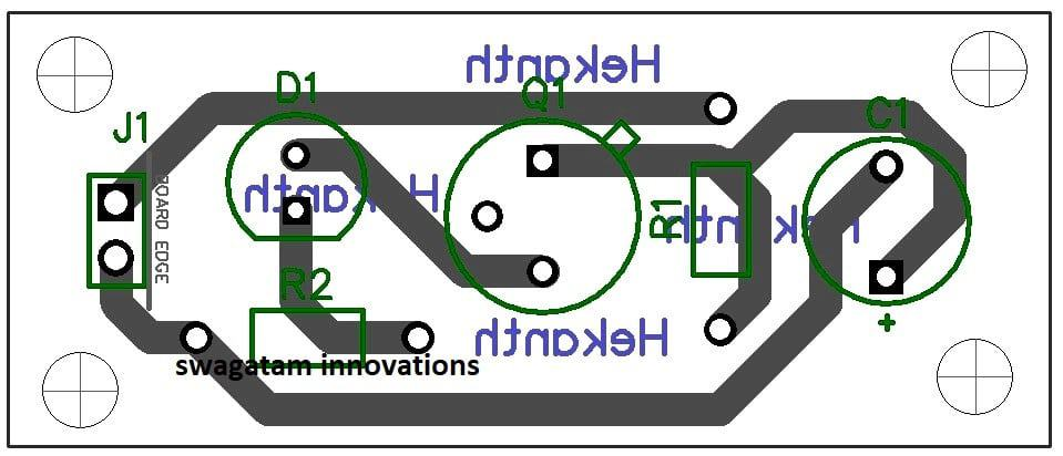 single transistor flasher PCB design