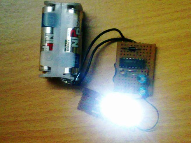 Hi Efficiency LED Torch prototype