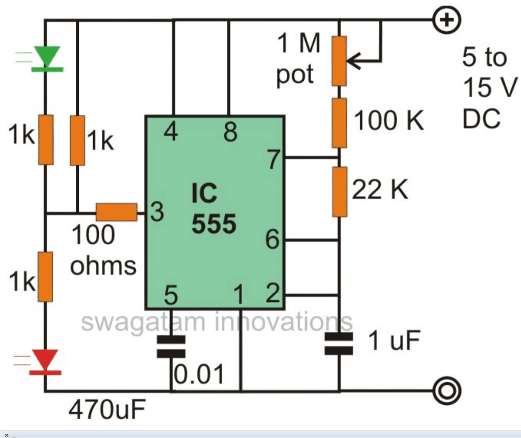 Random Flickering Led Circuit Wiring Diagram For Light Switch Flickerledcircuit Blinking Flashing And Fading Lights Using Ic 555 Homemade Rh Circuits Com Test 8 Leds
