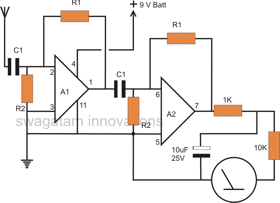 non contact ac phase fault detector circuit