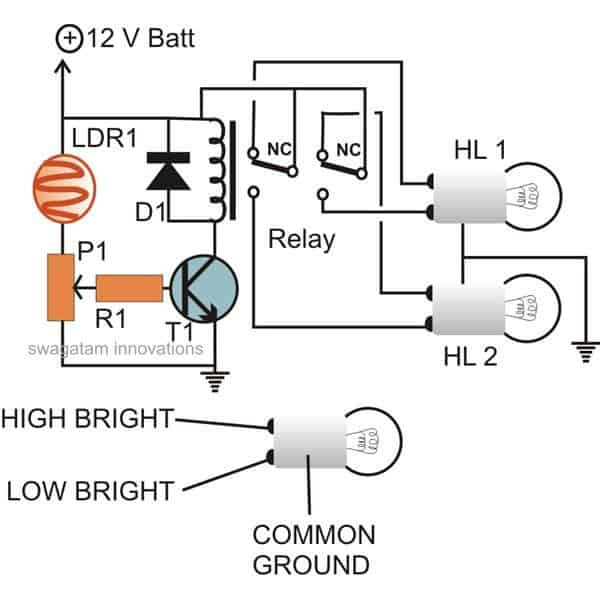 Automatic vehicle headlight dipperdimmer circuit vehicle headlight dipperdimmer circuit swarovskicordoba Image collections