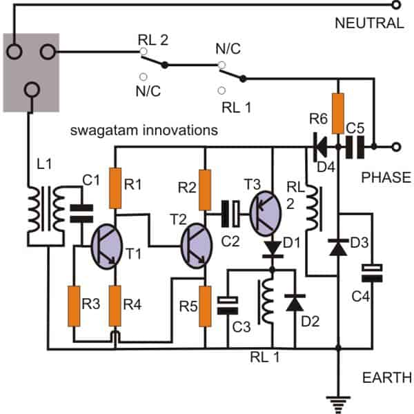 simple earth leakage circuit breaker elcb rh homemade circuits com wiring diagram electric guitar wiring diagram elec tra mate