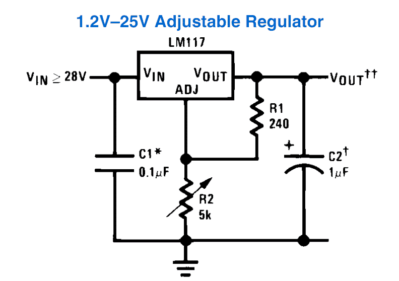 LM317 variable power supply circuit