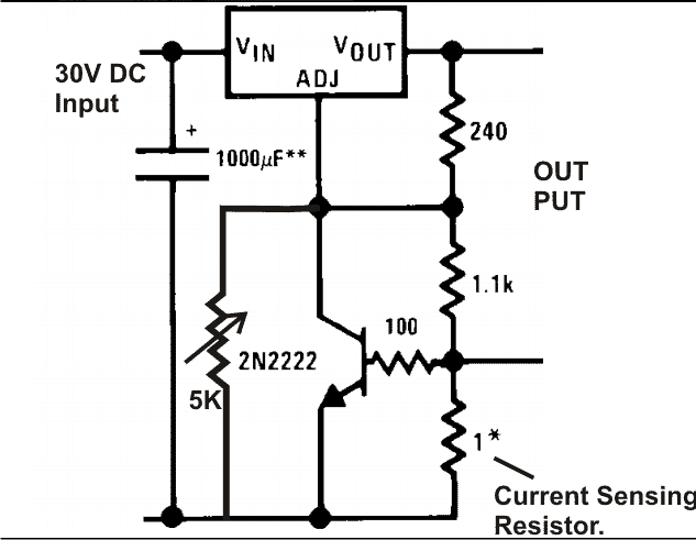 LM317 current control circuit