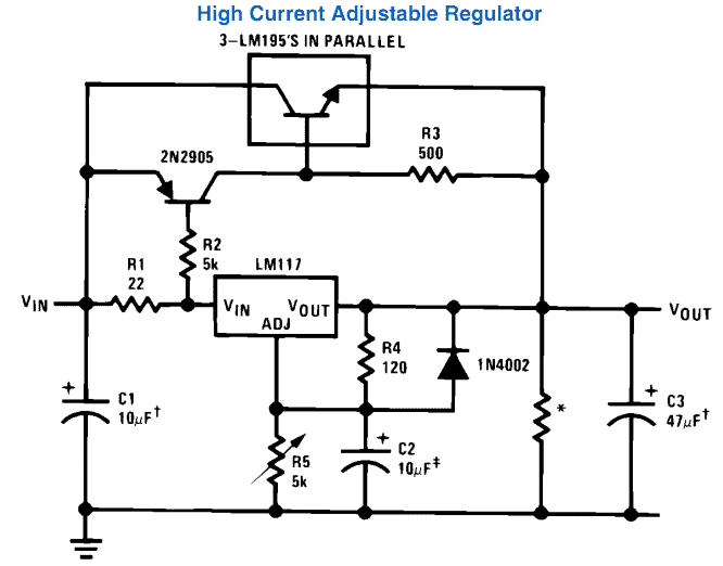 Circuito Lm317 : Variable power supply circuit using ic lm