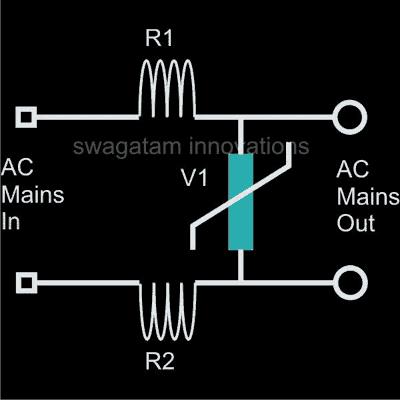 Mains Surge Protector Circuit