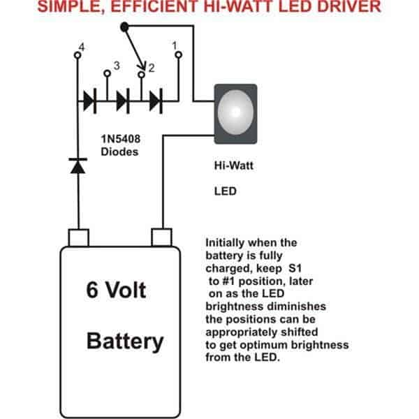5 easy 1 watt led driver circuits homemade circuit projects5) illuminate 1 watt led with a 1 5v aaa cell