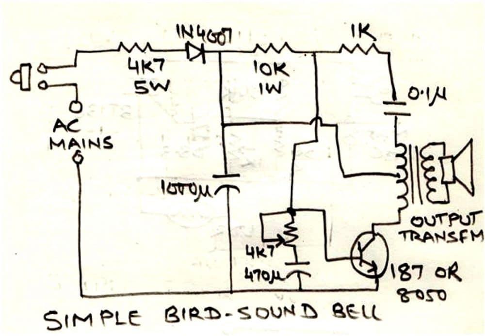 bird chirping sound simulator circuit