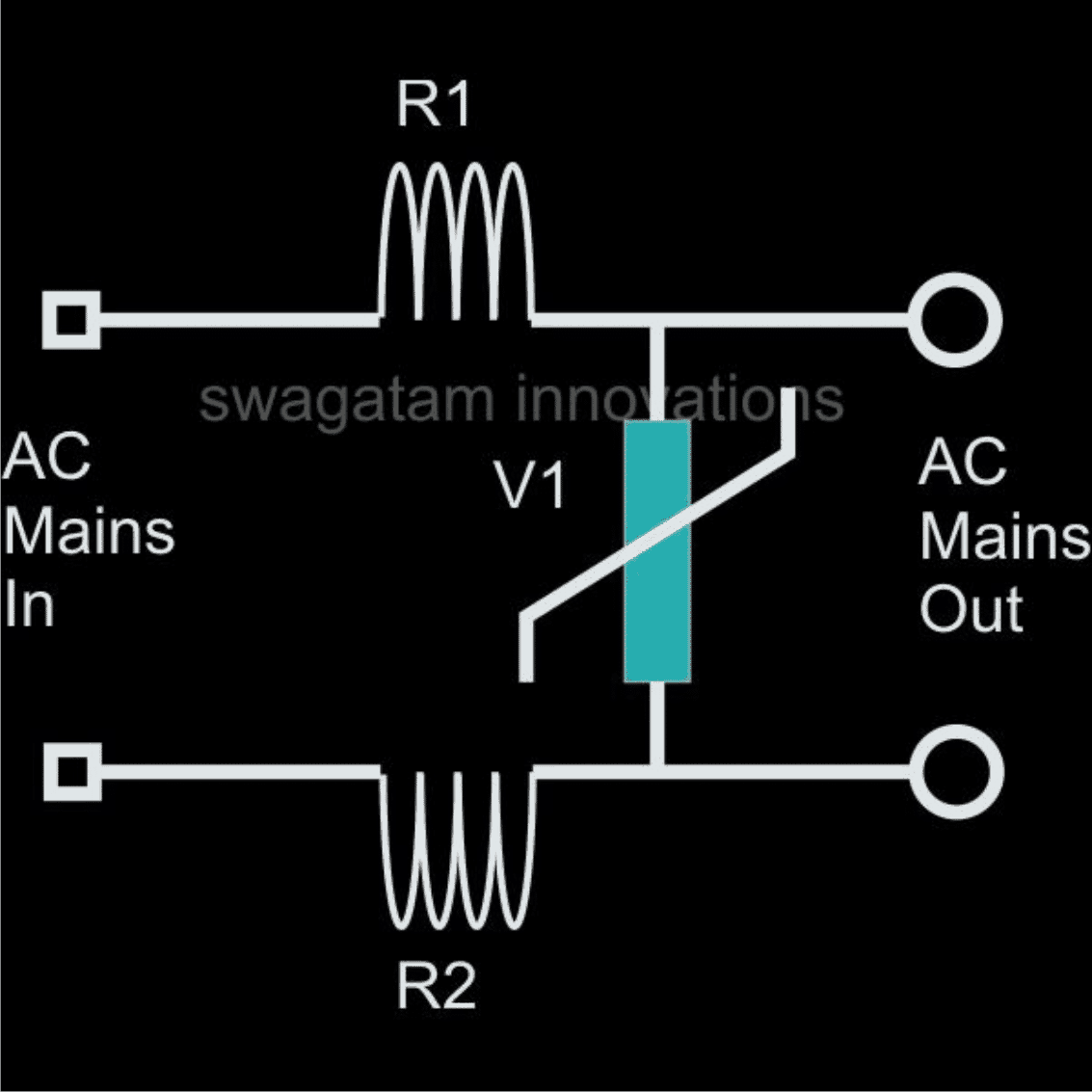 inductor MOV based surge suppressor