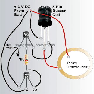 Bicycle Musical Horn circuit with ringtone