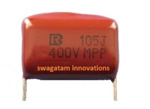 105/400V capacitor 1uF 400V capacitor for transformerless power supply
