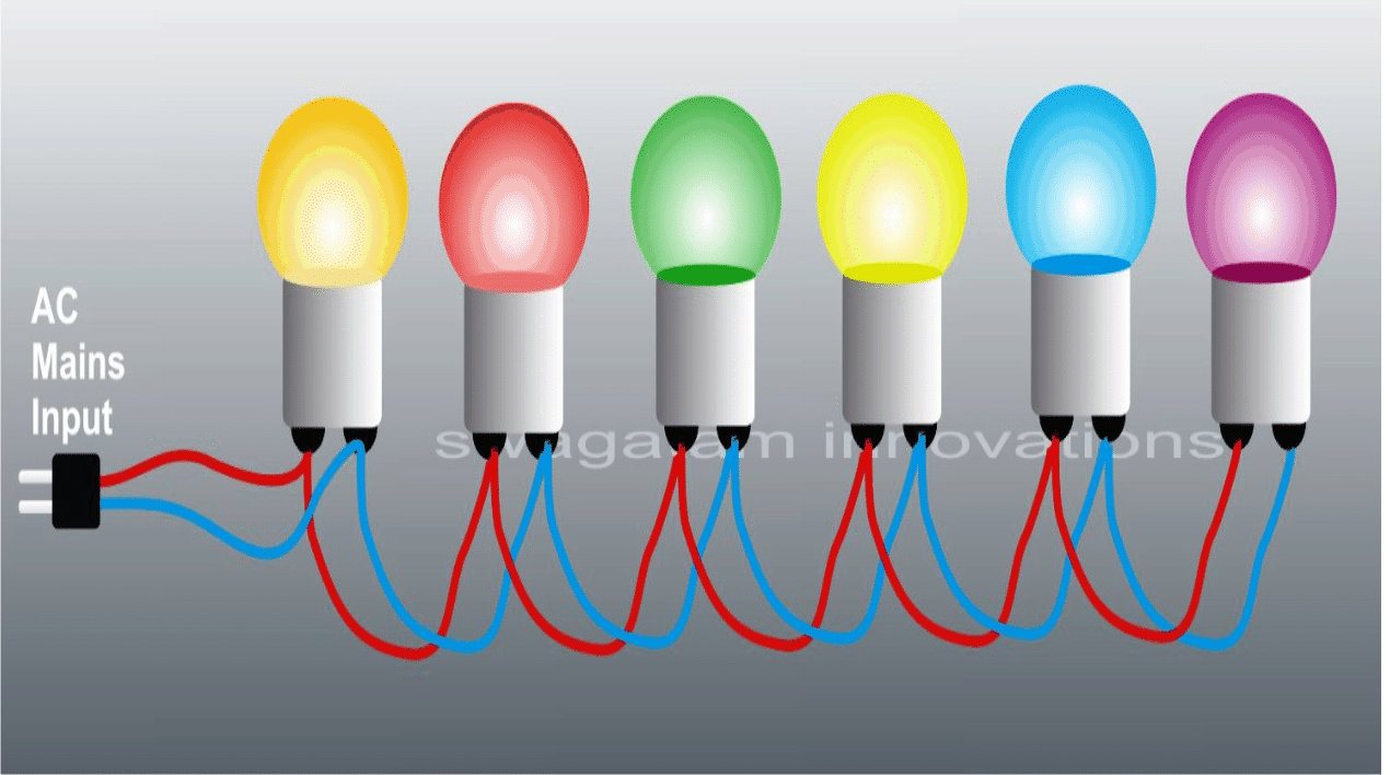 230 Volts Bulb String Light Circuit for Diwali and Christmas