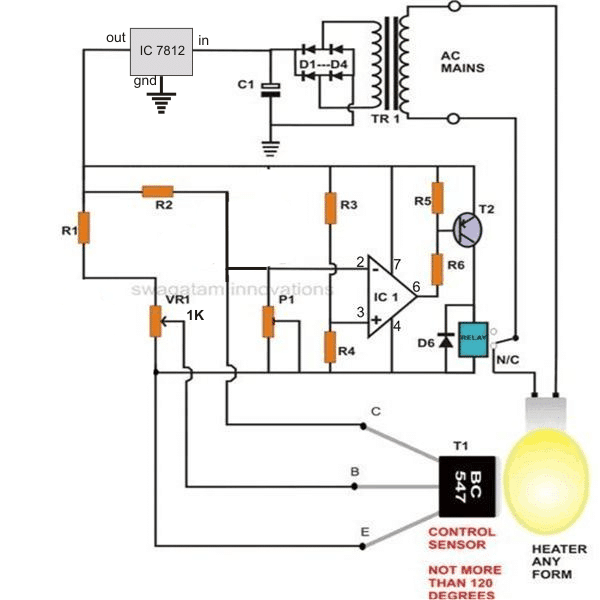 [QMVU_8575]  How to Build a Simple Egg Incubator Thermostat Circuit | Homemade Circuit  Projects | Incubator Thermostat Wiring Diagram |  | Homemade Circuit Projects