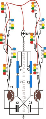 LED string light flasher circuit