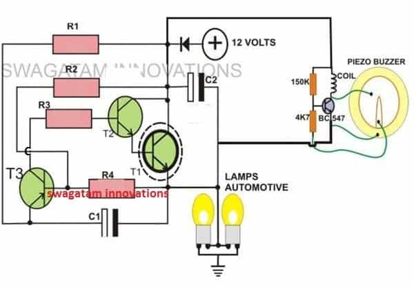 2-pin motorcycle turn signal indicator circuit with beeper | homemade  circuit projects  homemade circuit projects