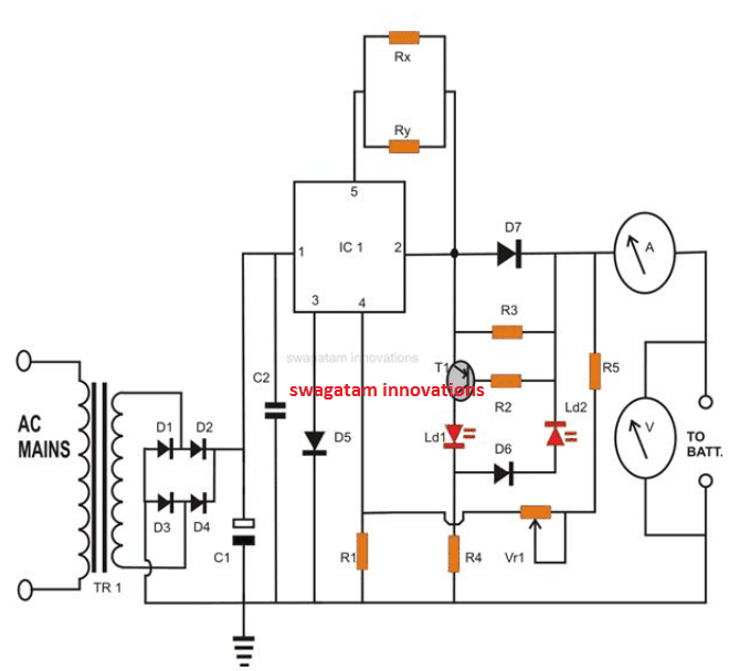 constant current charger circuit for lead acid battery
