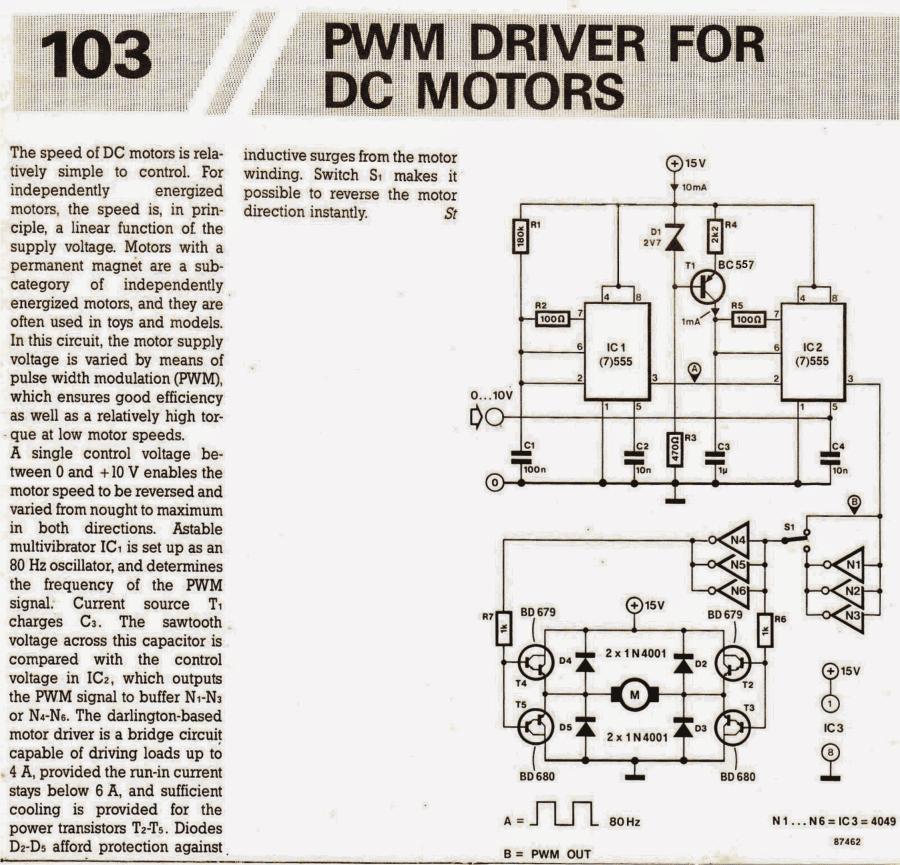 Pwm Motor Speed Control Circuit