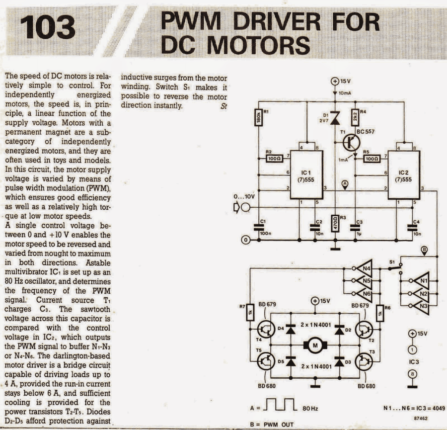 PWM Motor Speed Controller Circuit Using IC 555