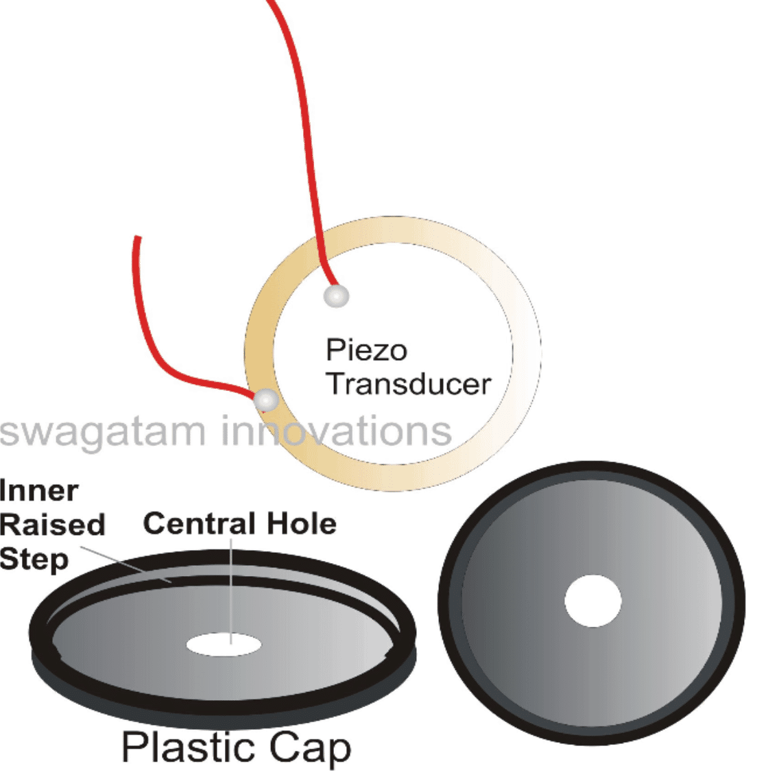 How to stick a piezo transducer on a base for maximum sound output
