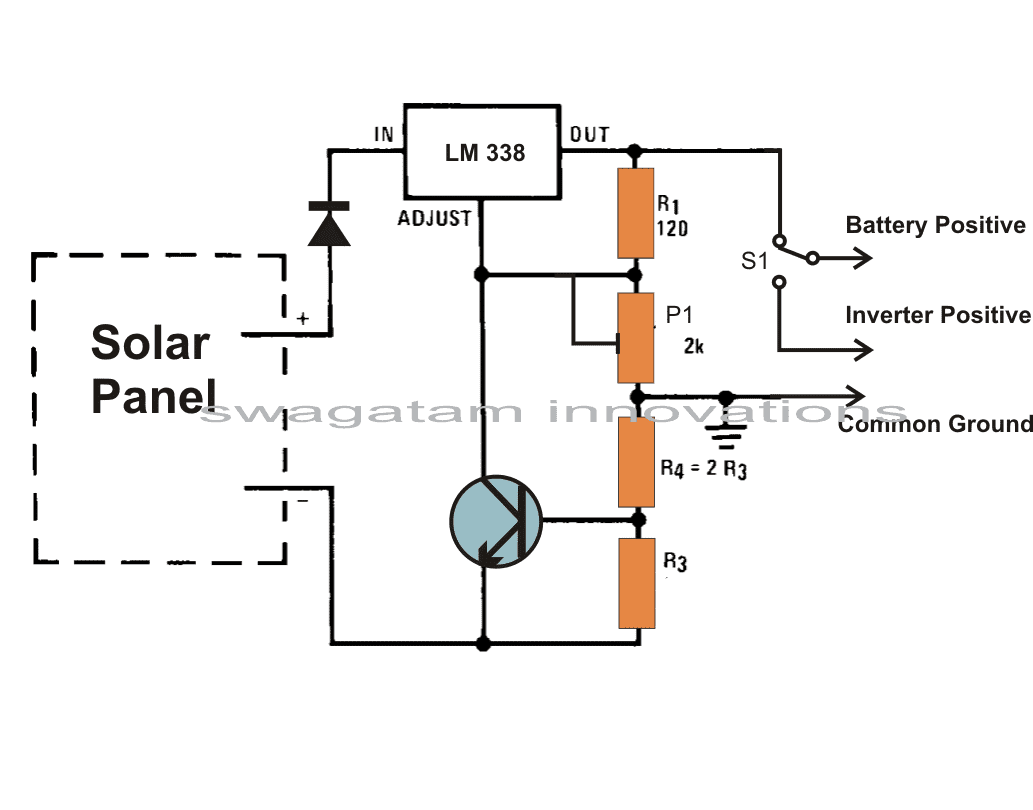 build a solar panel voltage regulator charger rh homemade circuits com solar panel voltage regulator schematic solar panel regulator manual