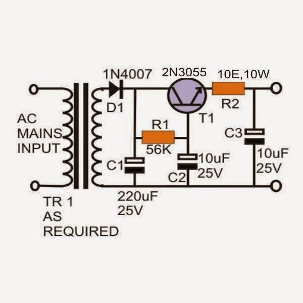 Hum free power supply circuit