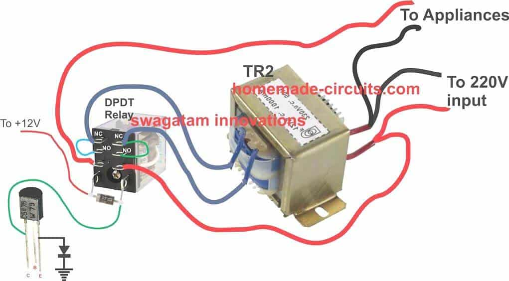 stabilizer relay transformer wiring diagram