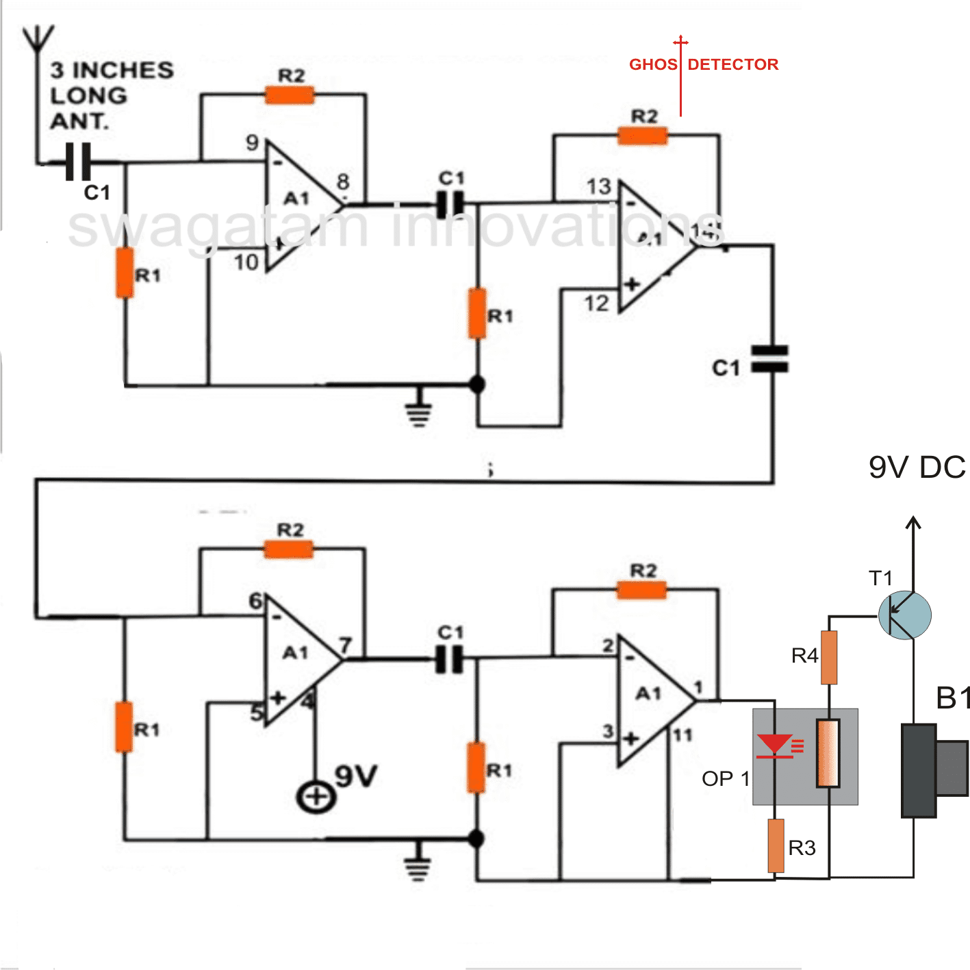 accurate ghost detector circuit