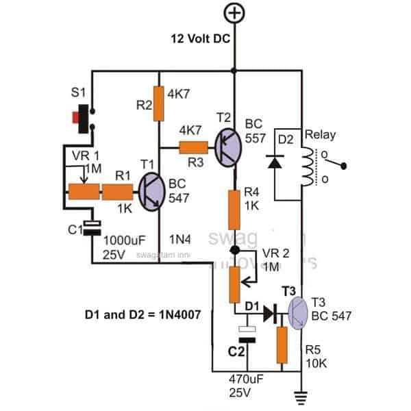 12 Volt Time Delay Relay Wiring Diagram 12vdc Dpdt Relays