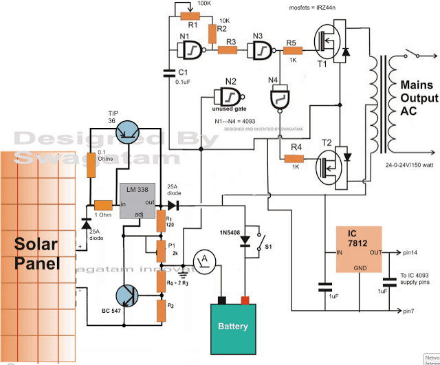 solar inverter with high power battery charging