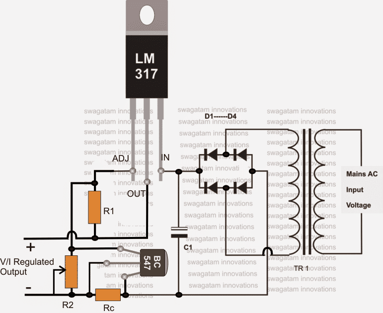 12v battery charger circuits using lm317, lm338, l200, transistorscircuit diagram 1 simple lm317 battery charger