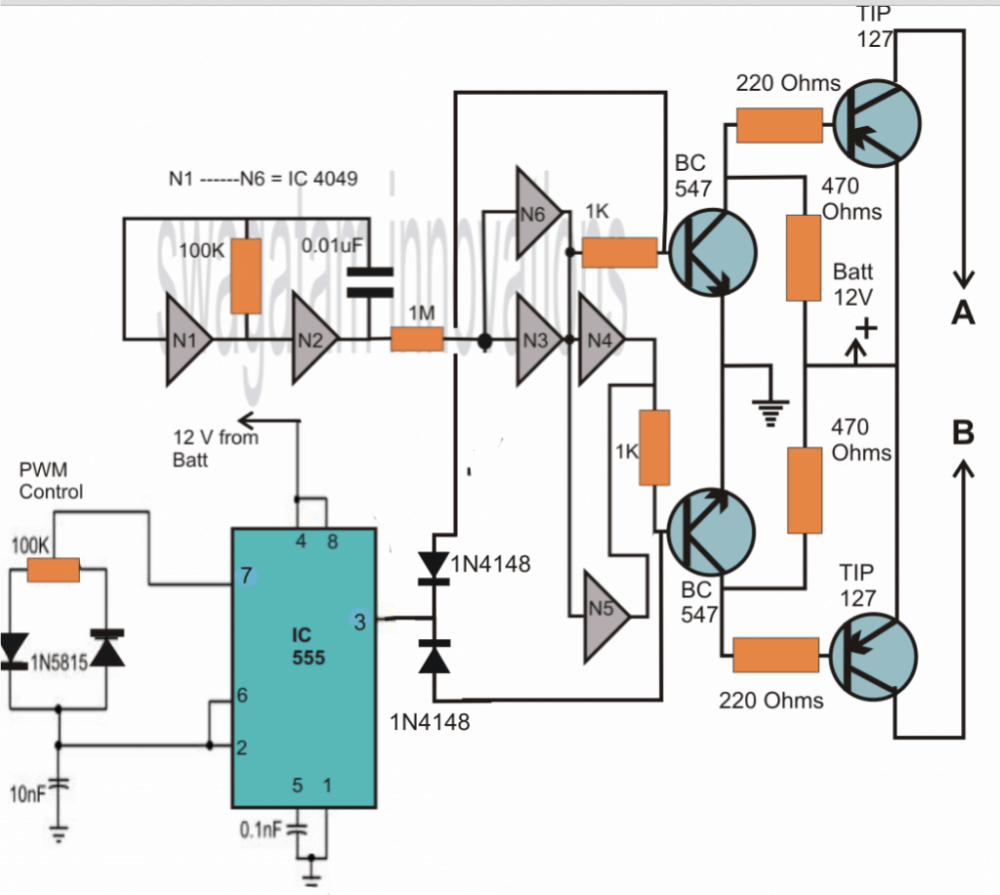 500 Watt Pwm Inverter Circuit Diagram Wiring Modified Sine Wave Image How To Make A Va Controlled Phase Shift Oscillator