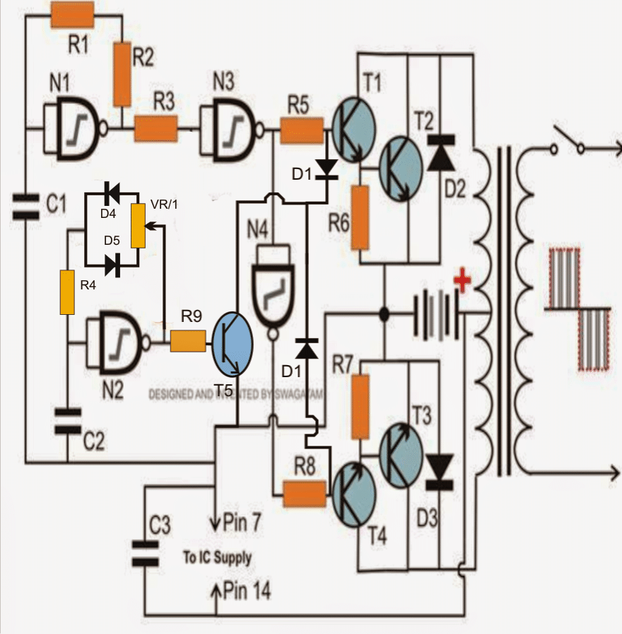 7 Modified Sine Wave Inverter Circuits Explored 100w To 3kva Design Of The 3 Kva Should Look Like This Ic 4049 Nand Gate Based Sinewave Circuit
