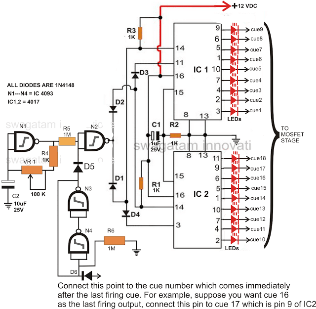 Pyro-ignition circuit diagram