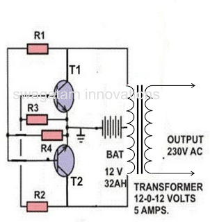 Making a Simple Inverter Circuit using two 2N3055 transistors