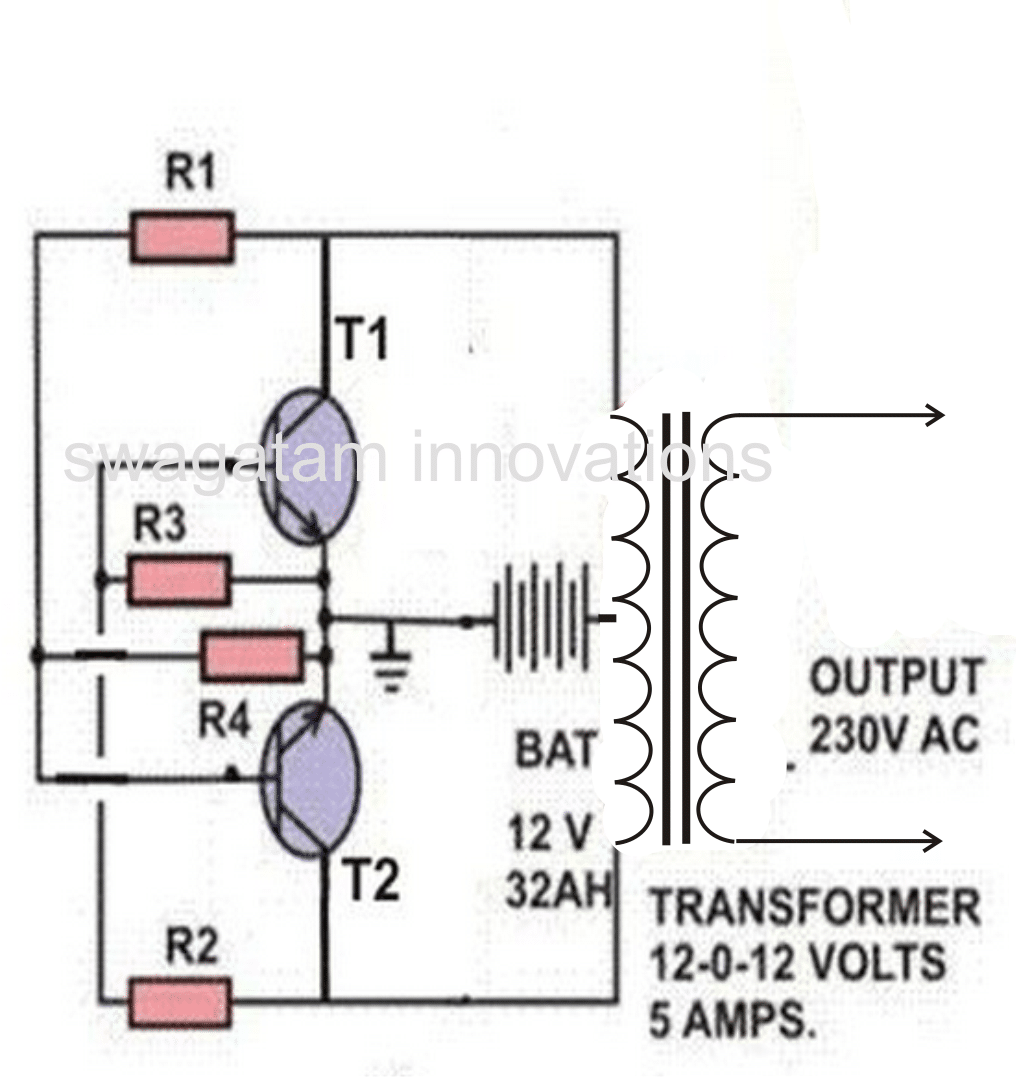 simple cross coupled inverter circuit 60 watt