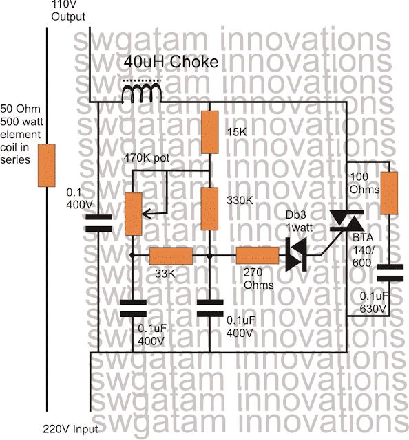 wiring diagram for 220v to 110v converter