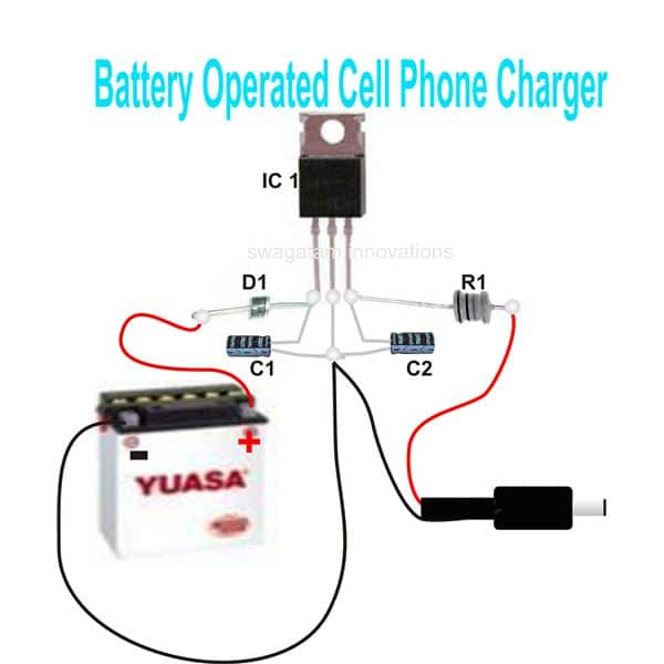 2 simple dc cellphone chargers full circuit diagram with working parts list ccuart Choice Image