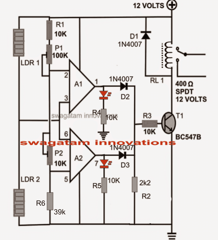 simple ldr motion detector alarm circuit
