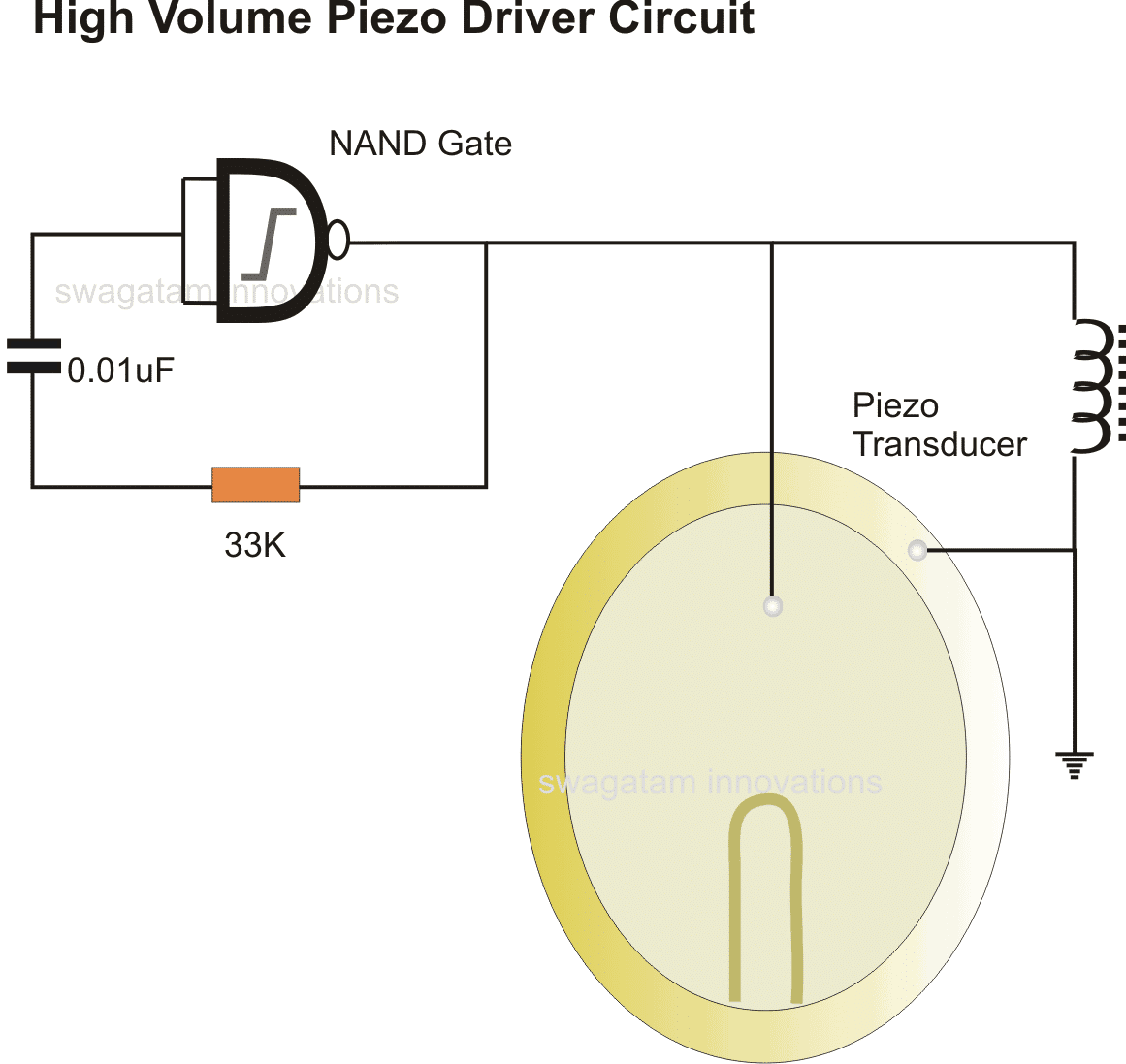 simplest piezo driver circuit explained homemade circuit projects