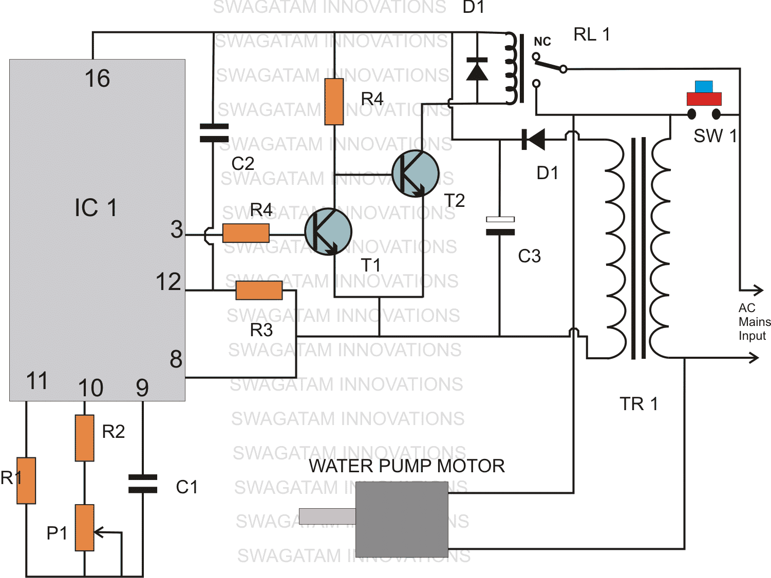 Timer based Water Level Controller Circuit   Homemade Circuit Projects