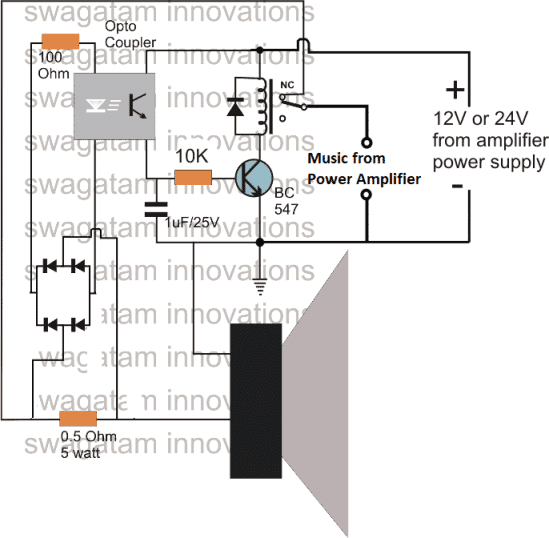 Make this Amplifier Short/Overload Protection Circuit