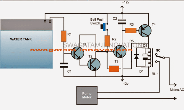 Automatic Water Level Controller Circuit Diagram For Submersible