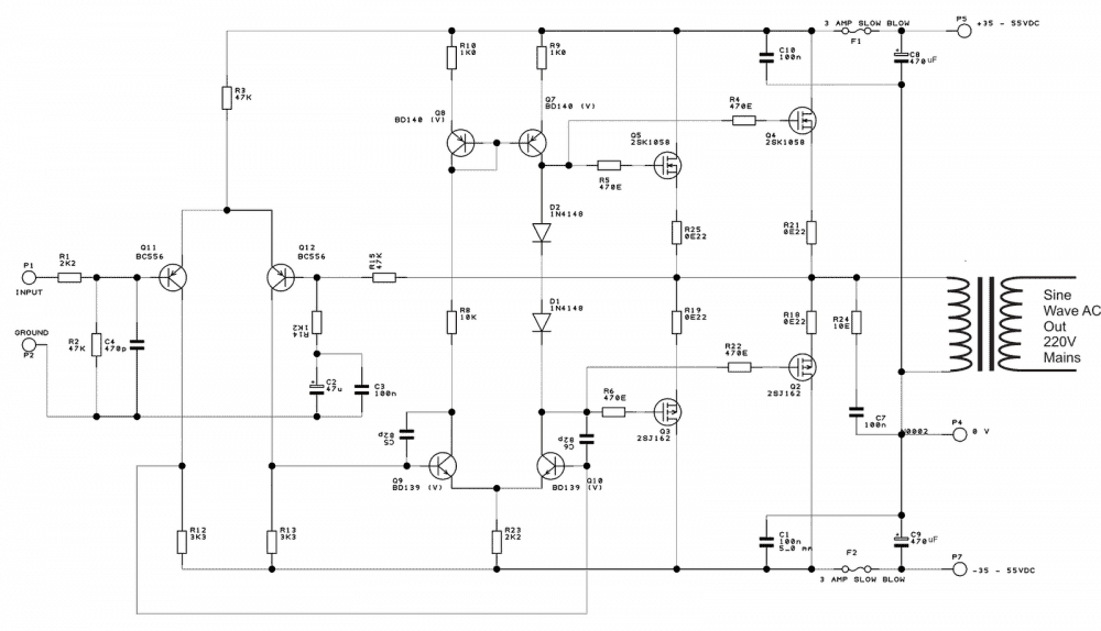 digital modified sinewave inverter circuit