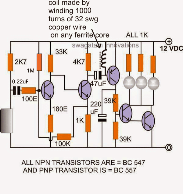 simple clap operated stairway light switch circuit