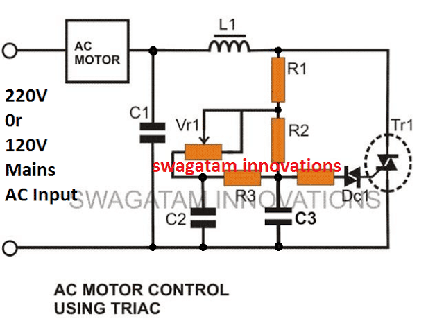Simple Light Dimmer And Ceiling Fan Regulator Switch Homemade Circuit Projects