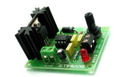 practical DC motor speed controller prototype image