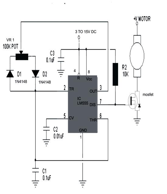 simple dc motor speed controller circuit